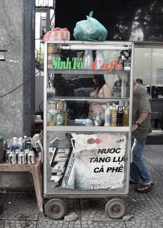 Traditional Vietnamese coffee stall
